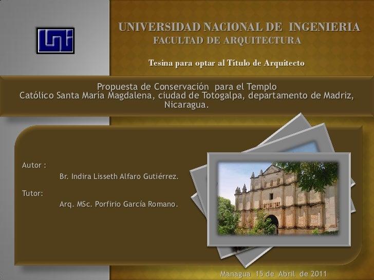 UNIVERSIDAD NACIONAL DE INGENIERIA                                      FACULTAD DE ARQUITECTURA                          ...