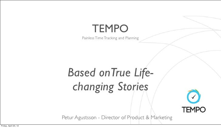 TEMPO                               Painless Time Tracking and Planning                         Based onTrue Life-        ...