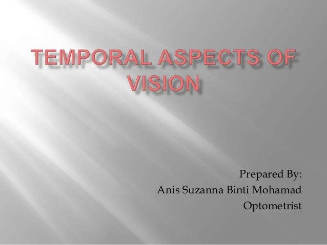 Prepared By: Anis Suzanna Binti Mohamad Optometrist