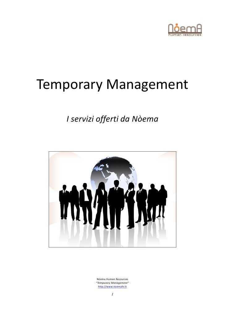 Temporary managementi [presentazione con note]
