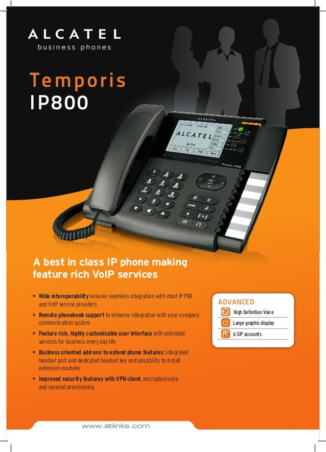 Temporis IP800 A best in class IP phone making feature rich VoIP services • Wide interoperability ensures seamless integr...