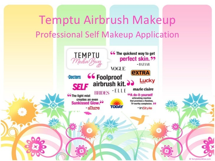 Temptu airbrush makeup kit - Professional Self Makeup Application from Home