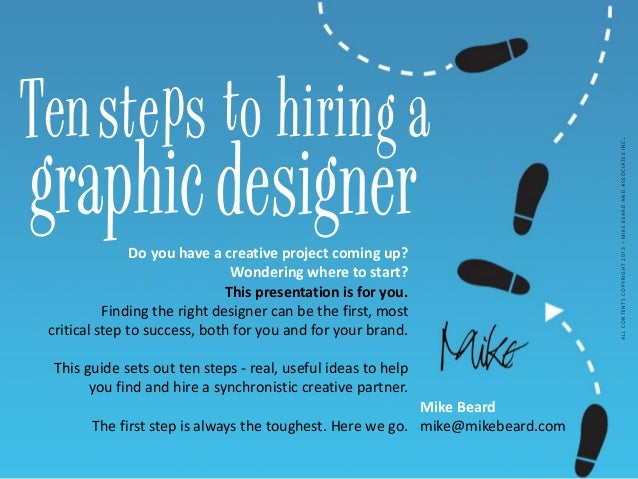 Ten Steps to Hiring a Graphic Designer and Brand Marketer