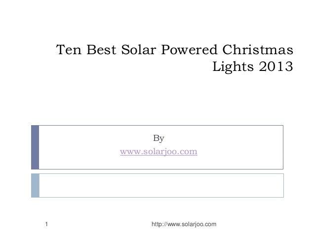 TenBest Solar Powered Christmas Lights 2013