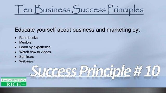 Imagini pentru 10 Principles to Success