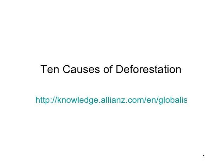 Ten causes of deforestation