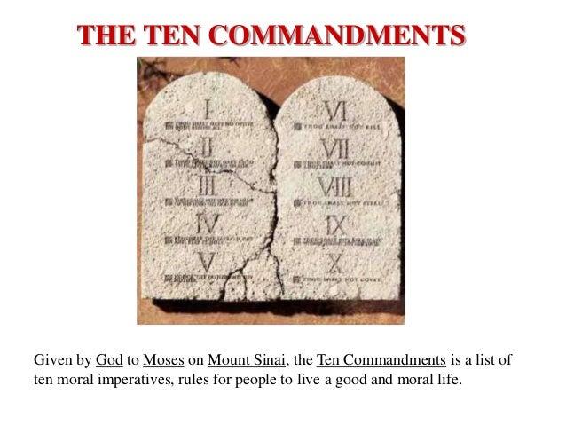 Ten Commandments GRADE 7