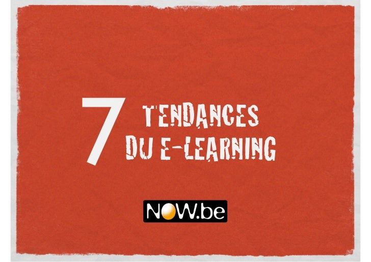 7TENDANCESDU E-LEARNING