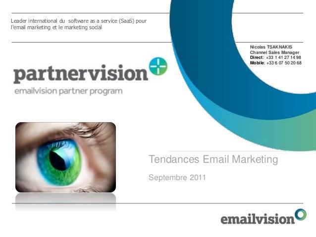 Tendances email marketing sept 2011