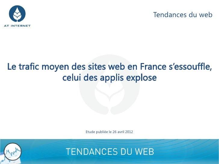 Tendances du webLe trafic moyen des sites web en France s'essouffle,              celui des applis explose                ...