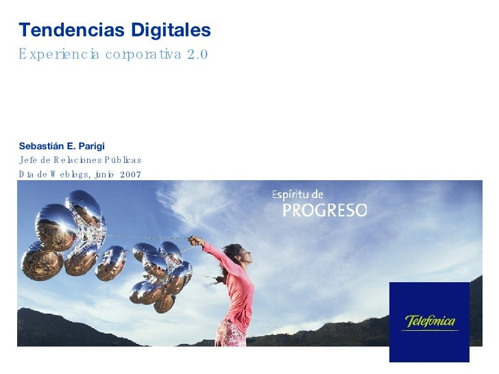 telefonica Caso blog corporativo Tendencias Digitales Telefónica en Día de Weblogs