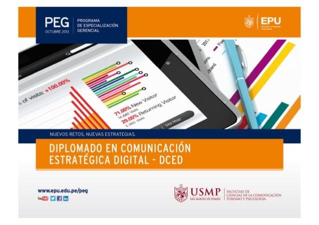 MÓDULO I INTRODUCCIÓN A LA COMUNICACIÓN DIGITAL CURSO DOCENTE  : Tendencias de la Comunicación Digital : Omar Vite