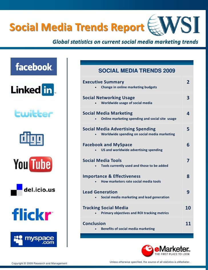 Social Media Trends Report  Social Media Trends Report                               Global statistics on current soci...