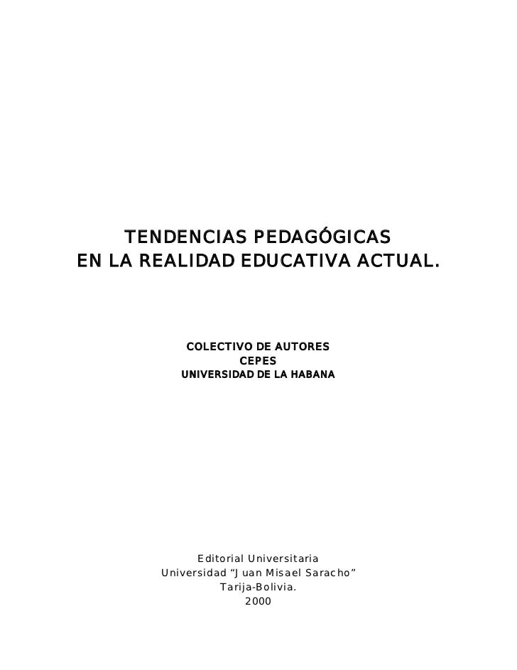 Tendencias pedagógicas en la realidad educativa actual