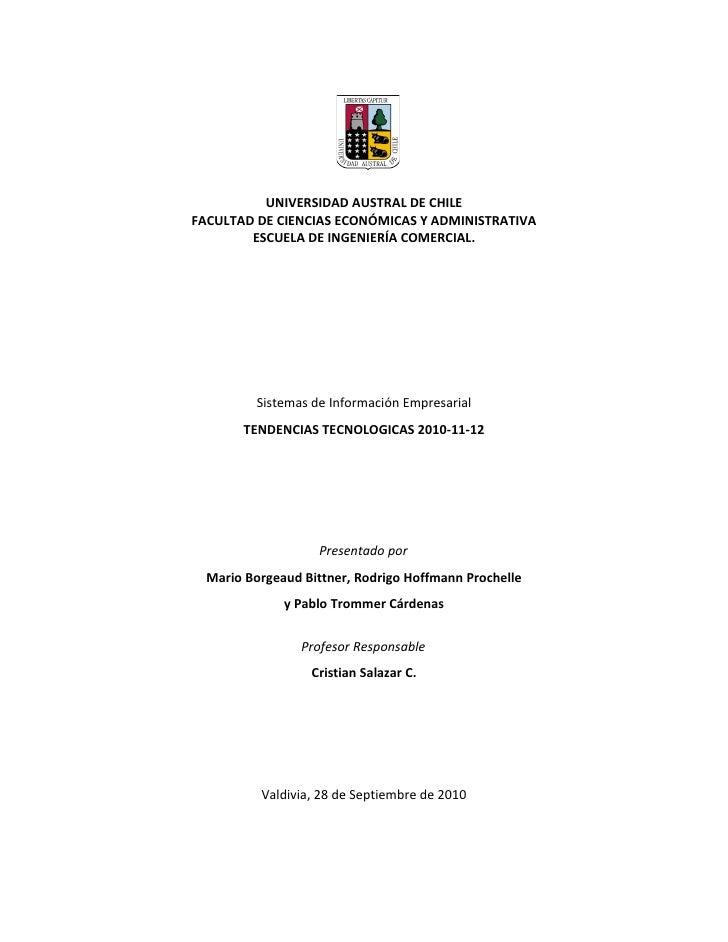 Tendencias tecnológicas 2010-2012