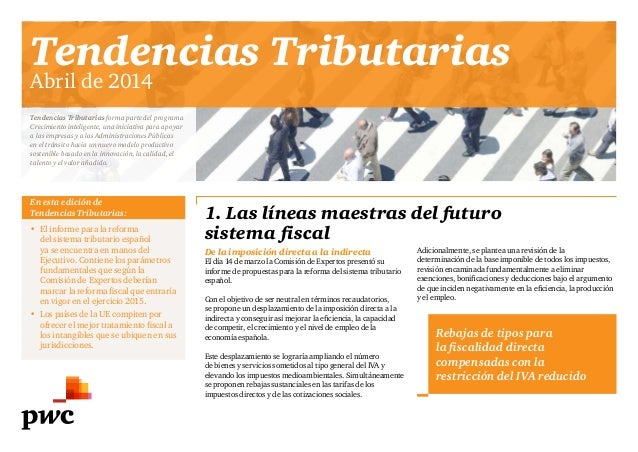 Tendencias Tributarias - Informes PwC Hacienda - Abril 2014