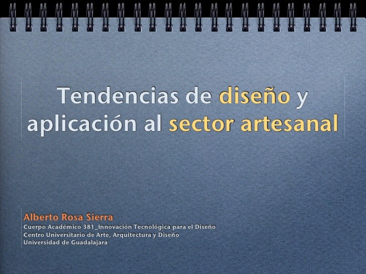 Tendencias en el sector artesanal 2010