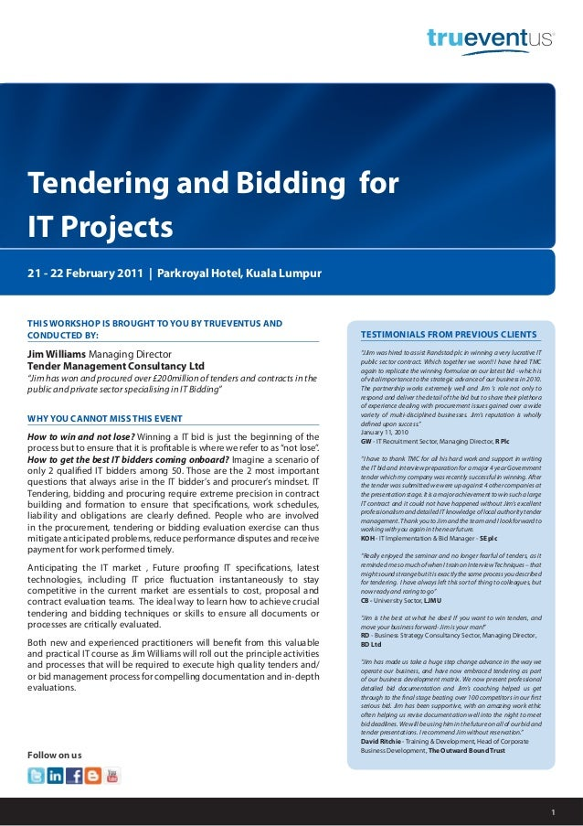 Tendering and Bidding for IT Projects_Trueventus