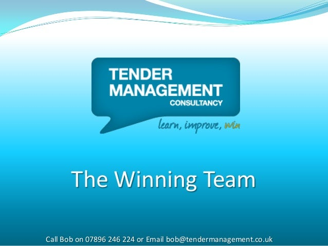 How To Win Your Next Tender