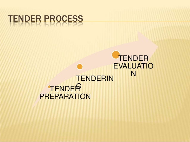 TENDER PROCESS TENDER PREPARATION TENDERIN G TENDER EVALUATIO N