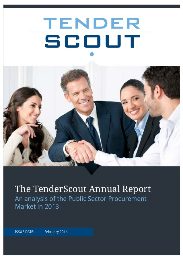 Tender scout annual report for 2013