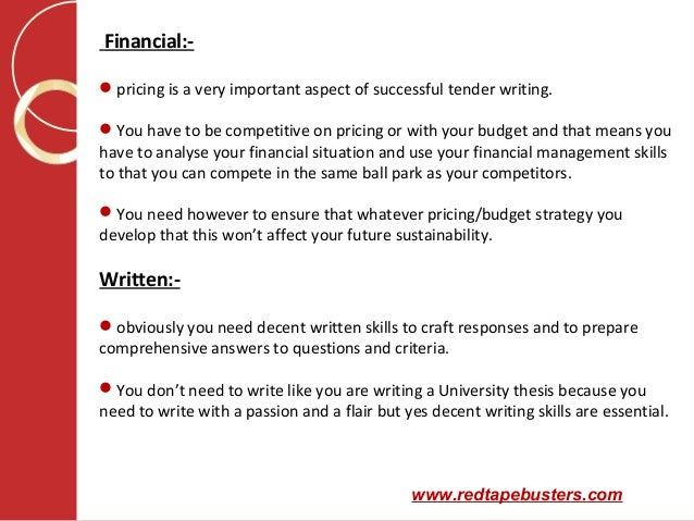 Writer required
