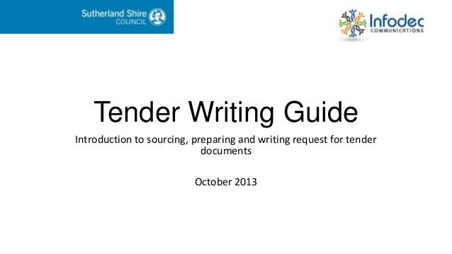 tender writing guide presentation 1 638