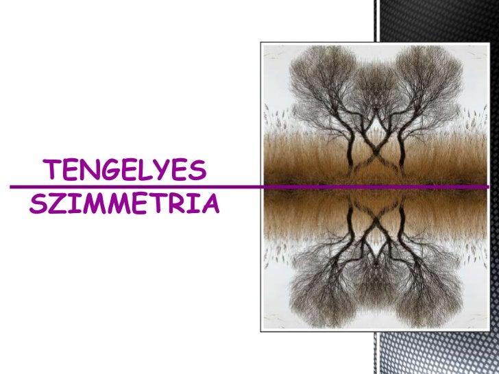 Tengelyes szimmetria alkalmazása