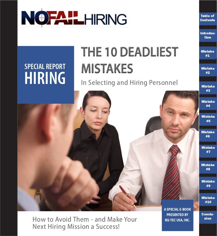 Ten Hiring Mistakes