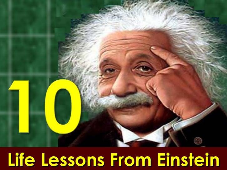 Ten Life Lessons From Einstein