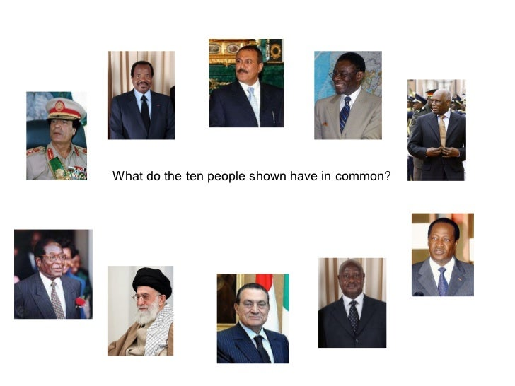 What do the ten people shown have in common?