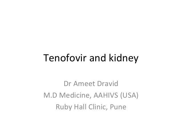 Tenofovir and kidney