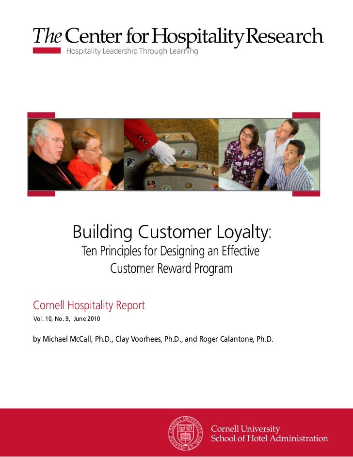 Building Customer Loyalty:                  Ten Principles for Designing an Effective                         Customer Rew...