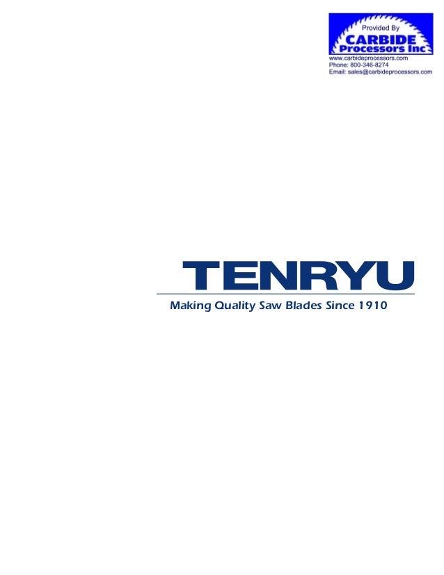 Tenryu Saw Blades Catalog