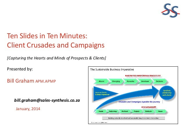 SS Ten Slides in Ten Minutes: Client Crusades and Campaigns [Capturing the Hearts and Minds of Prospects & Clients]  Prese...