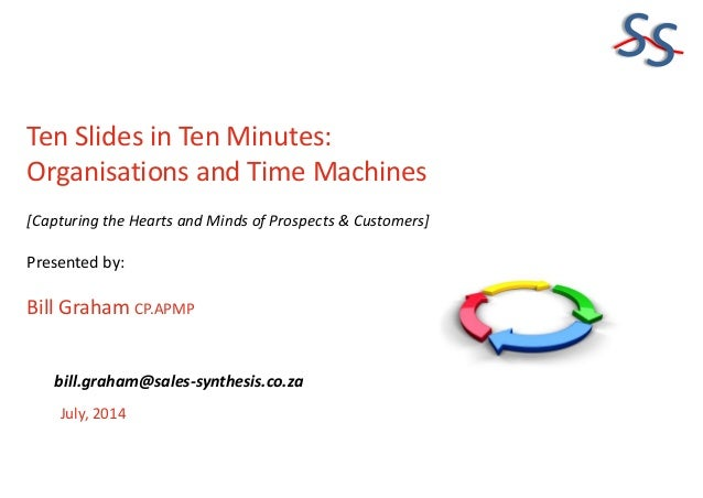 SS Ten Slides in Ten Minutes: Organisations and Time Machines [Capturing the Hearts and Minds of Prospects & Customers] Pr...