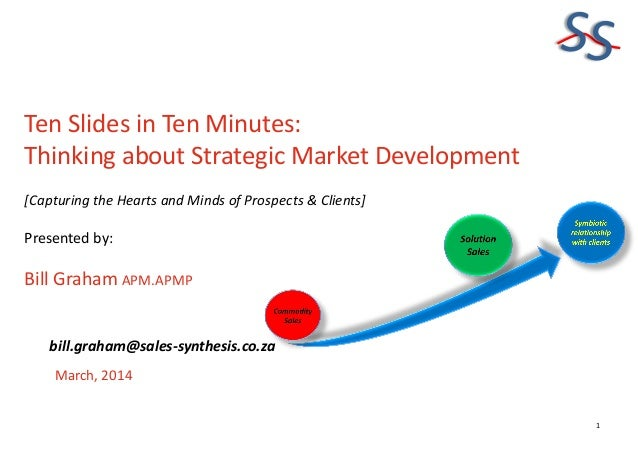 SS Ten Slides in Ten Minutes: Thinking about Strategic Market Development [Capturing the Hearts and Minds of Prospects & C...