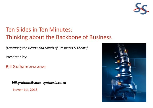 Ten slides in Ten Minutes - Thinking about the Backbone of Business