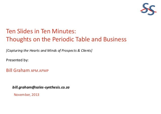 SS Ten Slides in Ten Minutes: Thoughts on the Periodic Table and Business [Capturing the Hearts and Minds of Prospects & C...