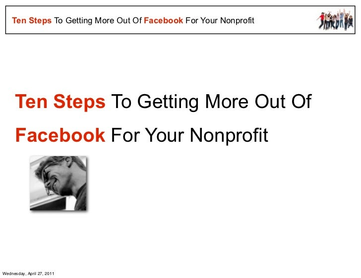 Ten steps to facebook success for nonprofits   free