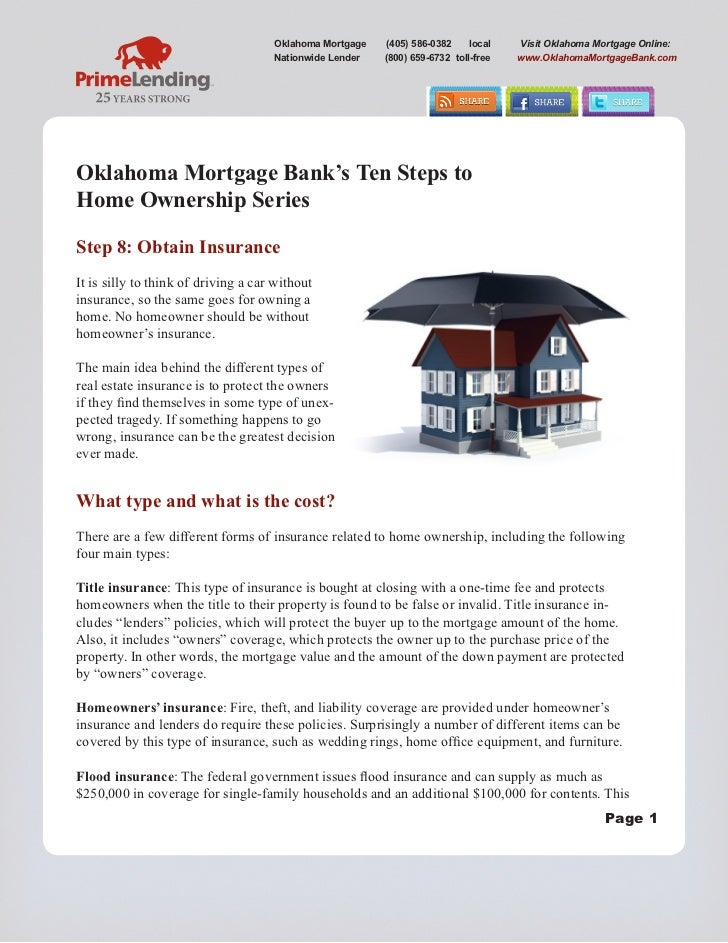 Ten steps to home ownership series   oklahoma mortgage bank - step 8