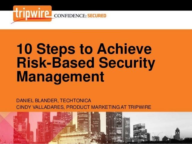 Ten Steps to Improve Enterprise Security Strategies