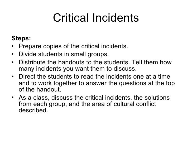 german culture critical incident Critical incident 2 happy birthday this critical incident was written by a dutch girl studying in finland she shared a student flat with a finnish girl.