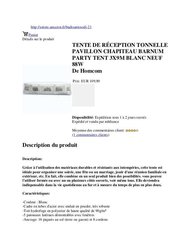 http://astore.amazon.fr/budisantosodi-21PanierDétails sur le produitTENTE DE RÉCEPTION TONNELLEPAVILLON CHAPITEAU BARNUMPA...