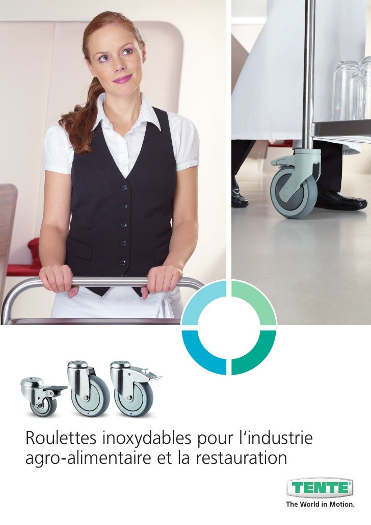 Roulettes inoxydables pour l'industrieagro-alimentaire et la restauration                                  The World in Mo...