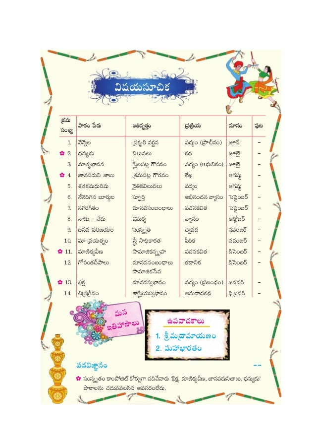 Tenth class state syllabus-text book-em-tm-ap-ts-telugu first language