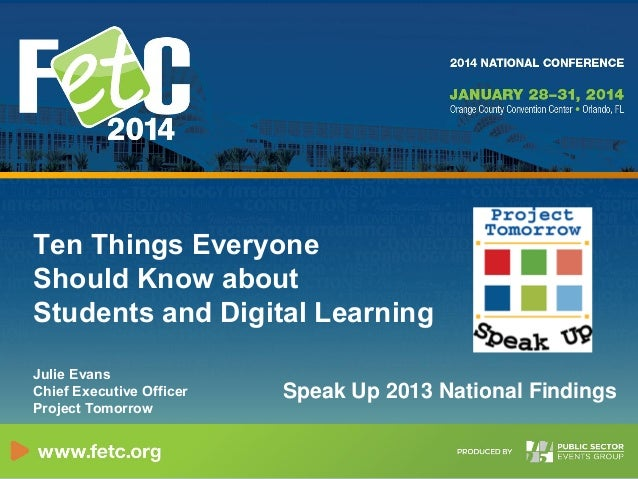 Ten Things About Digital Learning and Students