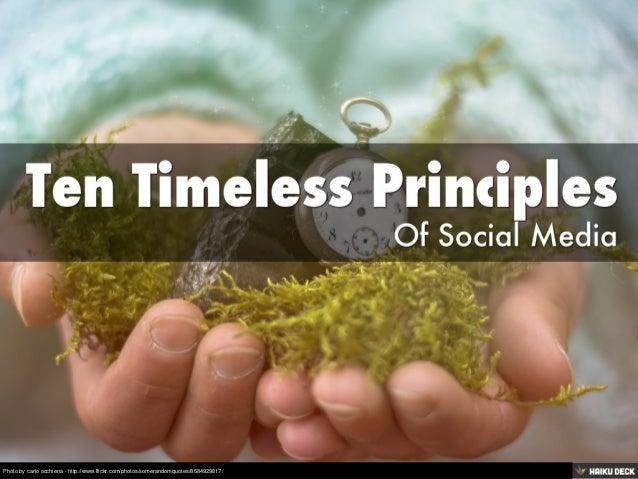 Ten Timeless Principles Of Social Media