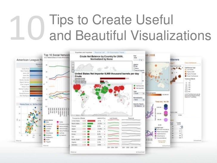 10   Tips to Create Useful     and Beautiful Visualizations