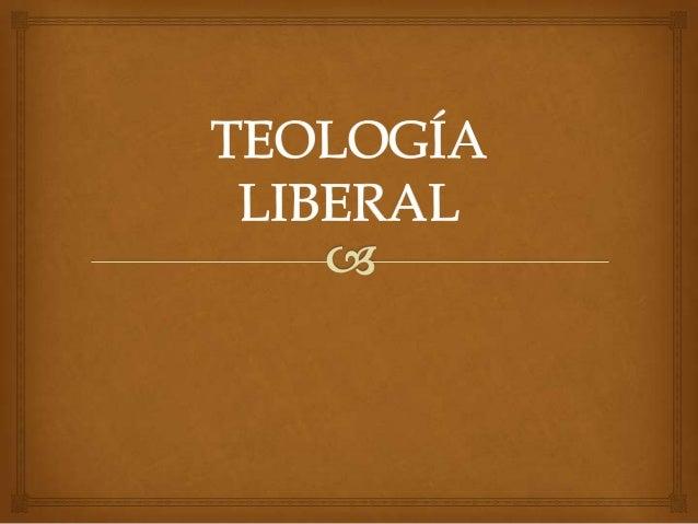 Teología liberal